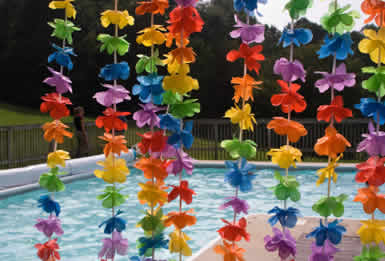 Easy to Make Luau Decorations http://paperdollromance.blogspot.com/2010/06/tips-for-maid-of-honor-luau-bridal.html