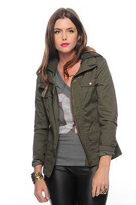 Army green jacket at forever 21