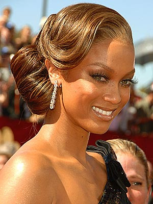 tyra banks 2011 haircut. tyra banks updo hairstyles