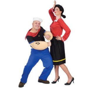 Paper doll romance halloween look book couples costumes popeye and olive oyl are one of the cutest cartoon duos and make for a great couples costume its easily recognizable not too played out and olive oyls solutioingenieria Image collections