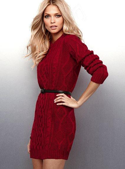 Купить Стильное Вязаное Платье