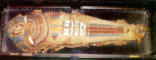 Mummy in Archeaological Museum - Hyderabad