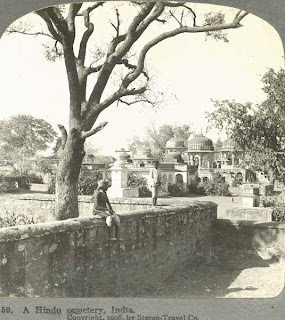 India 100 years ago: A Hindu cemetery, India