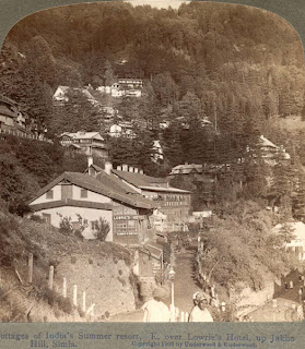 India 100 years ago: Cottages of India's summer resort - Lowrie's Hotel, Jakhu (Jakho) Hill, Shimla