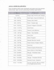 jadual harian pelajar MTDH
