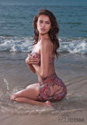 Irina Shayk Body Painting