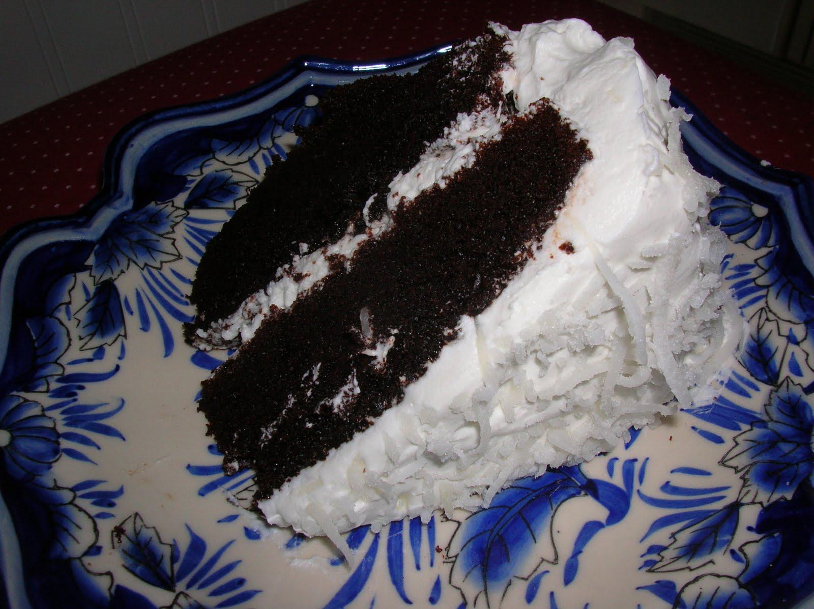 Year of Cakes: Cake Recipe #2 - Chocolate Cake with Coconut Cream