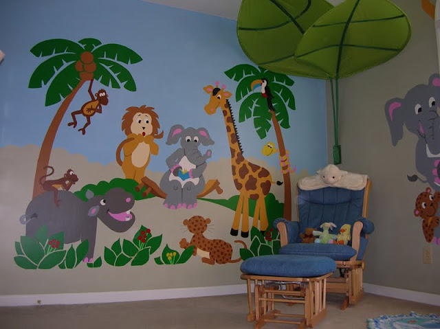 Kids Decal Corner Paint by Number Wall Murals