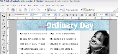 Screenshot of Title Fonts by Julie Ann Shahin for Everyday Digital Scrapbooking