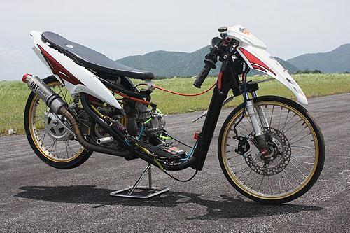 Kumpulan Gambar Modifikasi Motor Drag Yamaha Mio