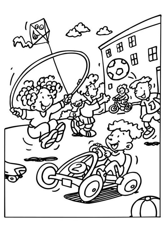 Kids On Playground Coloring Page