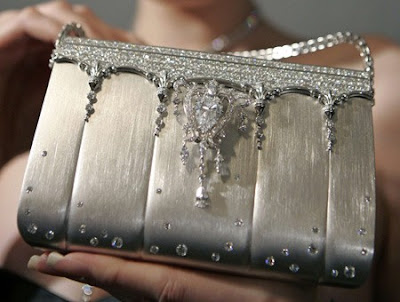 Costly hand bag studded with diamond