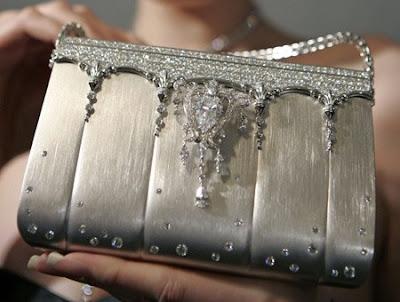 Costly hand bag studded with diamond