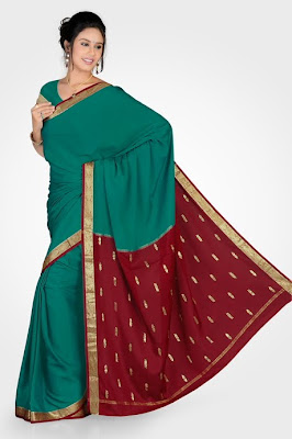 RMKV Mysore Silk Sari collections