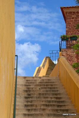 Escadaria de acesso ao topo do Torreão da Almedina, Silves, Primavera 2010