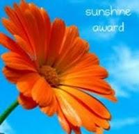 Sunshine Award gekregen van Bonita