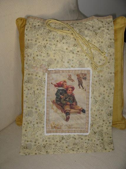 Sacco porta doni di babbo natale stile vittoriano