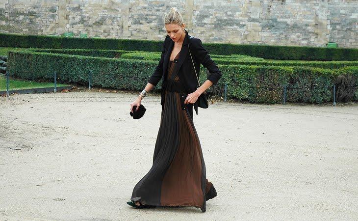 Длинное платья с пиджаком