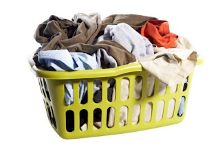 piled up laundry basket