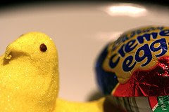 Easter  (Peep & Cadbury Egg) by Dave LIfson on Flickr