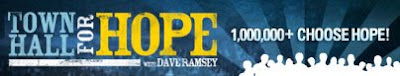 Dave Ramsey's Town Hall for Hope banner