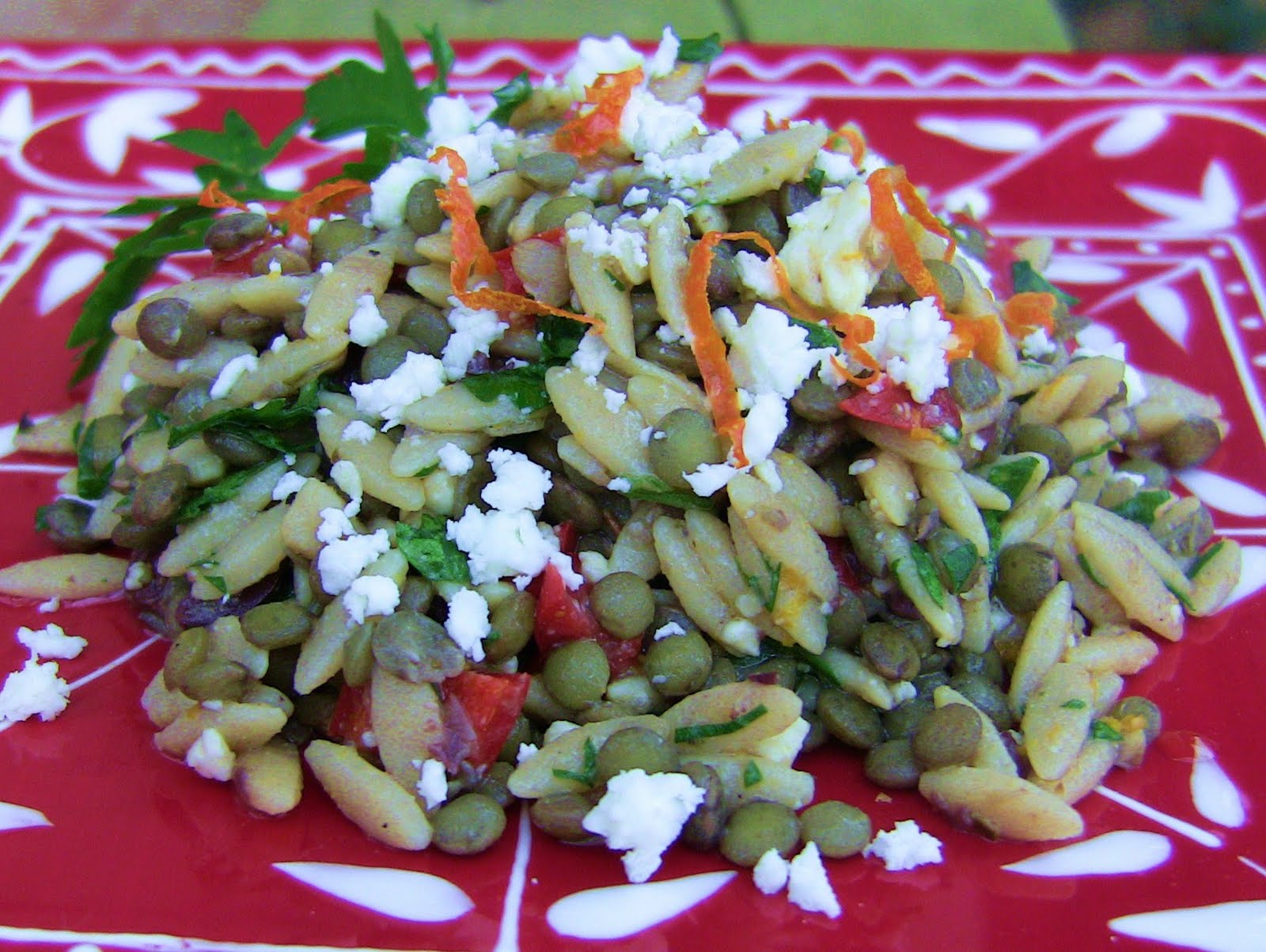 Orzo salad recipe to feed a party - Choosing and cooking healthy food