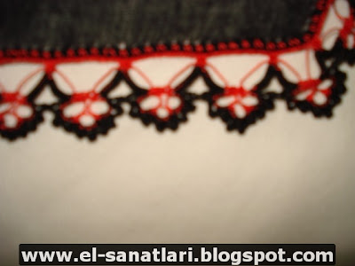DSC02667 siyah ve kırmızı yazma kenarının detay fotoğrafı