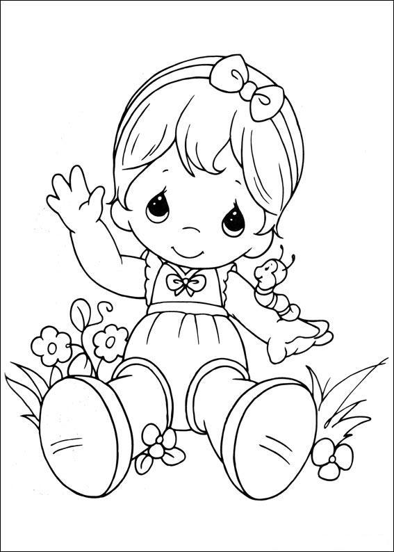 Preciosos Momentos Jardín ~ Dibujos para Colorear Infantil
