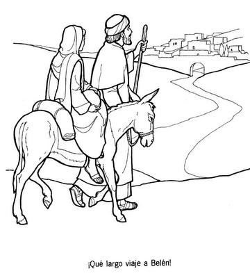 Jesus jose y maria para colorear