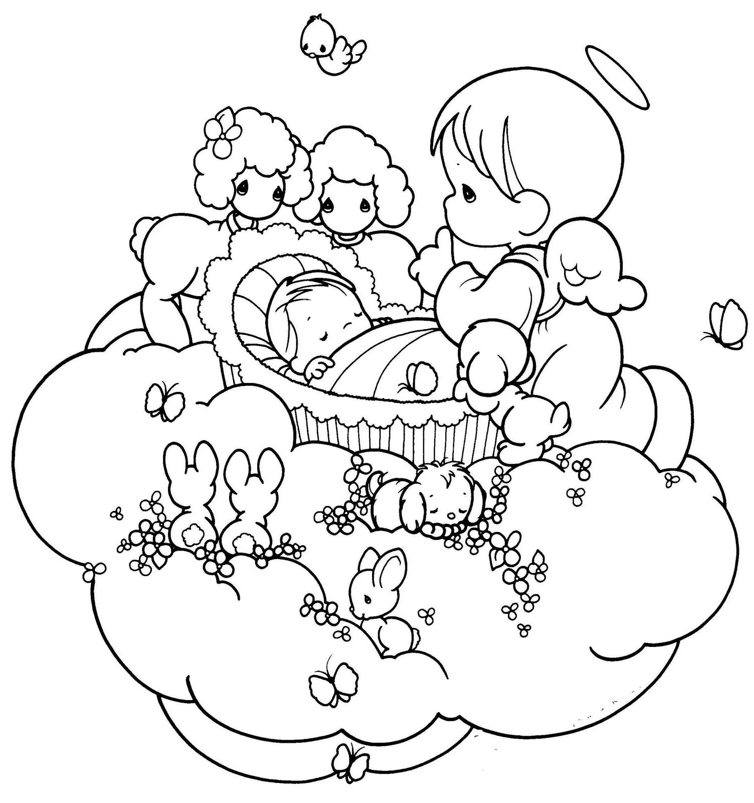 Precious moments angels wallpaper imagui for Precious moments angel coloring pages