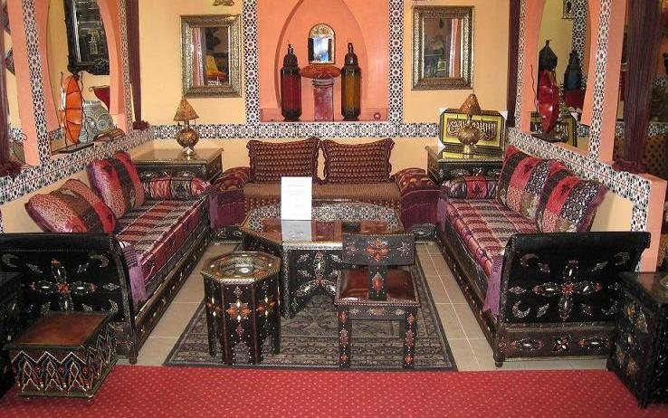 artisanat du maroc salon marocain stgle berb re. Black Bedroom Furniture Sets. Home Design Ideas