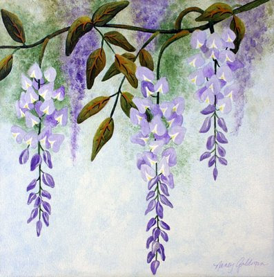 Painting Wisteria In Acrylics
