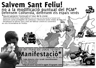 Manifestat en defensa de Collserola i per un aire net
