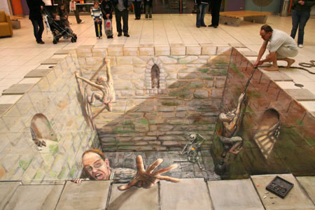 AH  mais vamos deixar de falar e deixar a imagens mostrarem por si s  243     Depth Sidewalk Art