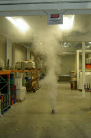 100g Fumigator activated in a factory setting