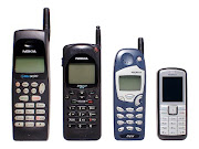 Over the years mobile phones' sizes got smaller and more portable.