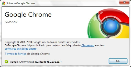 google chrome atualizado