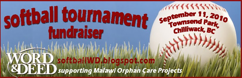 Word and Deed Chilliwack Softball Tournament