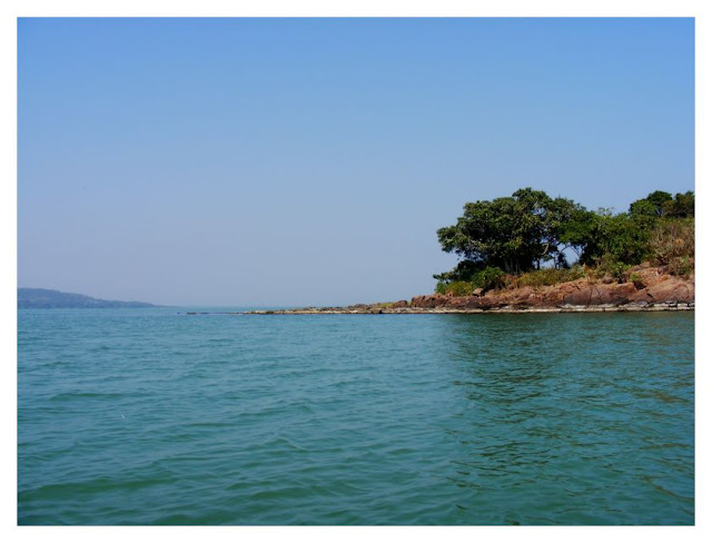 We took a trip by a motor boat on Chilka Lake.