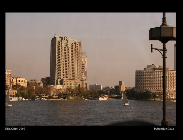 The Nile and the Four Seasons Hotel. Cairo 2008