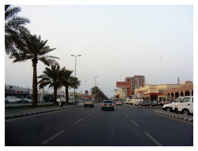 Driving down the main drag, Al-Jubail
