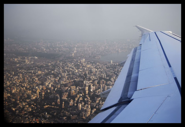 Flying out of Mumbai on my way back to Bahrain