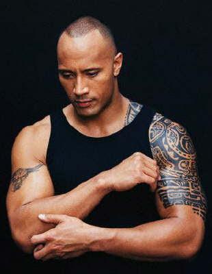 Rock Tattoo Dwayne Johnson