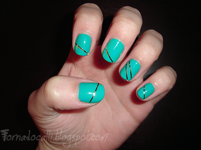 Nails with Striping Tape