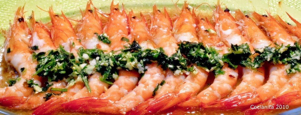 Cocianita langostinos al horno for Langostinos al horno