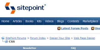 Sitepoint CSS Forums