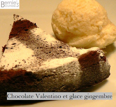 chocolate valentino  glace gingembre