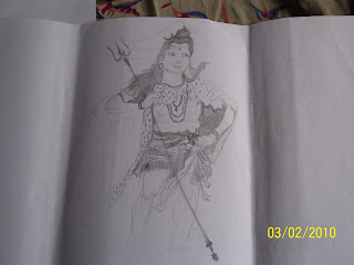 MY PENCIL SKETCHES: Indian God and Godess sketches