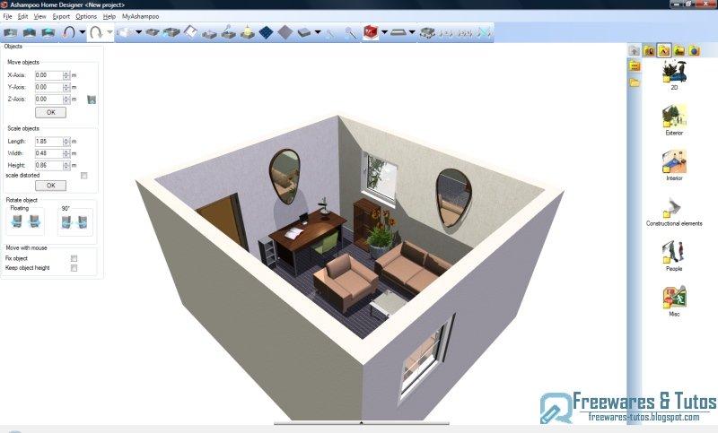 offre promotionnelle ashampoo home designer gratuit freewares tutos. Black Bedroom Furniture Sets. Home Design Ideas
