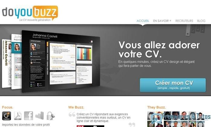 doyoubuzz   un service gratuit pour cr u00e9er et diffuser son cv en ligne